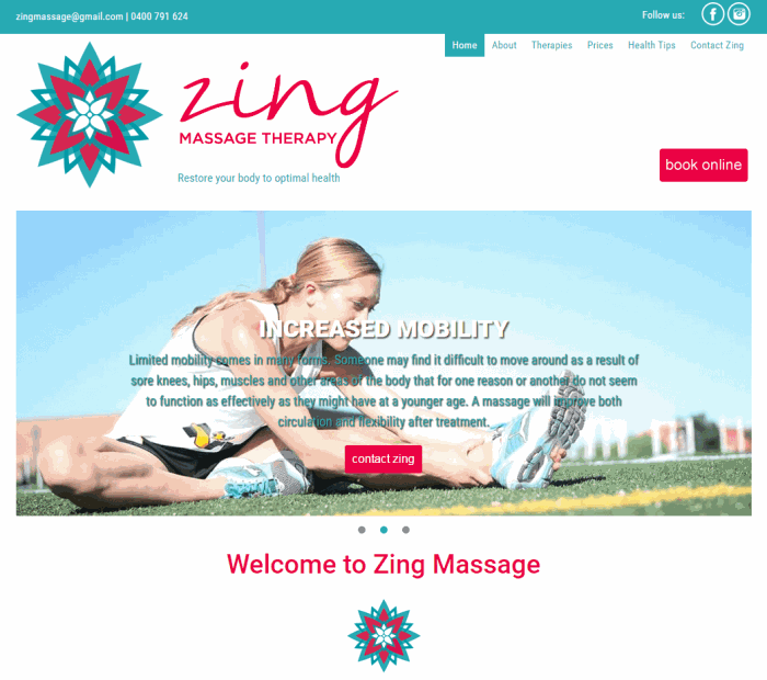 Go to Zing Massage Therapy